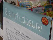 Post office branch closure notice