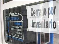 Tienda cerrada en Cuba