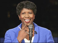 Gwen Ifill, moderadora del debate