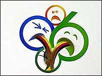 Versión satírica del logotipo del mundial
