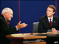 Dick Cheney and John Edwards in Tuesday evening's debate