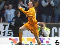 David Clarkson opened the scoring at Fir Park