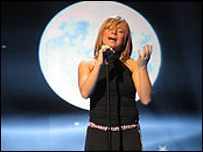 Lisa Andreas singing for Cyprus