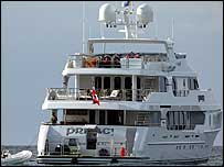 Privacy, the yacht Tiger Woods is reported to have hired in Barbados