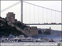 The bridge across the Bosporus