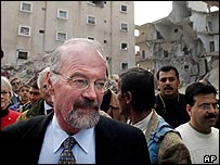Unrwa chief Peter Hansen tours destruction caused by Israeli army operations in Rafah