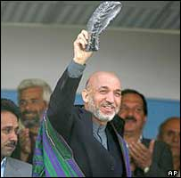 Hamid Karzai in Kabul