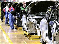 BMW's Mini production line in Oxford