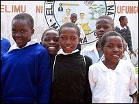 Schoolgirls at Maendeleo Primary School in Iringa, Tanzania