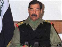 Saddam Hussein in uniform while still in power.