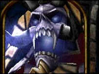 Screengrab of Warcraft III showing Ordin Frostbane, Blizzard