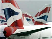 British Airways tail fin