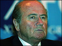 Fifa president Sepp Blatter