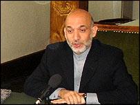 Hamid Karzai speaks to the BBC's Persian and Pashto services