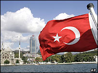 Turkish flag in Istanbul