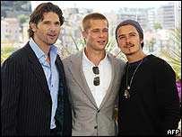 Eric Bana, Brad Pitt and Orlando Bloom