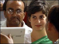 Priyanka Gandhi, daughter of Sonia