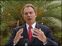 Tony Blair, speaking in Sudan