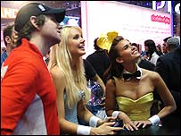 Playboy bunnies at E3 (Photo Jon Jordan)