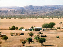 Cattle ranch in Namibia