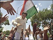 Bollywood actor and Congress Party candidate Govinda