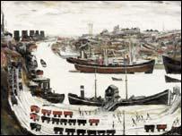 Dockside, Sunderland by LS Lowry