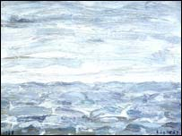 The Sea at Sunderland by LS Lowry