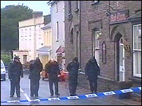 Police at the Red Lion, Llangadog