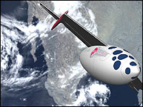 Artist impression of a Virgin Galactic liner (Image: Virgin)