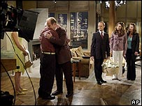 Filming of the final episode of Frasier