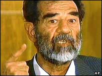 Saddam Hussein appears in court on 1 July