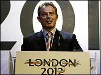 Prime Minister Tony Blair helped launch London's bid