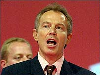 Tony Blair sings