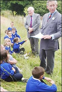 Prince Charles with children