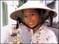 Vietnamese street peddler