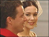 Crown Prince Frederik and his Australian fiancee Mary Elizabeth Donaldson