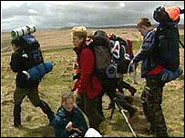 Youngsters taking part in last year's Ten Tors
