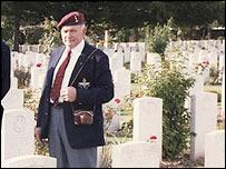 Gordon Newman at Raville cemetery