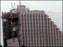 Taba's Hilton Hotel after the blast