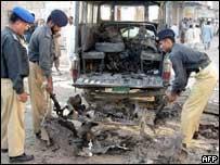 Bomb scene in Multan