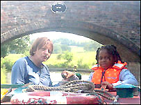 Skipper Judy Hodge with project participant