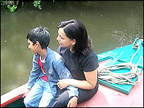Usha Mehmi and son