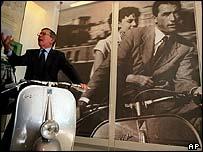 A Piaggio scooter