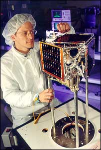 The SNAP-1 nanosat (Image: SSTL)