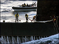 Crew members from HMS Marlborough and HMS Montrose. Picture courtesy of Royal Navy