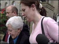 Leslie Gault outside court