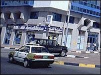 A taxi in Abu Dhabi