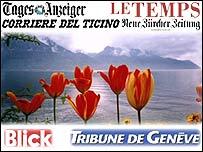 Swiss press graphic