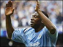 Paulo Wanchope celebrates his opening goal