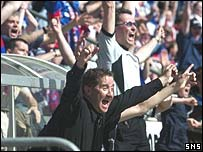 Caley Thistle boss John Robertson celebrates